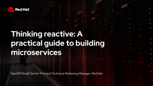Thinking reactive: A practical guide to building microservices