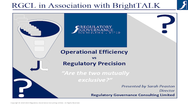 Operation Efficiency vs Regulatory Precision – Are the Two Mutually Exclusive?