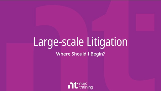 Large-scale Litigation: Where Should I Begin?
