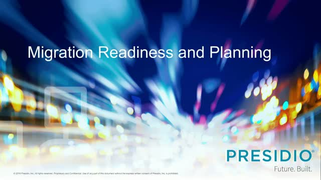 TECH TALK: Presidio Cloud Migration Readiness and Planning