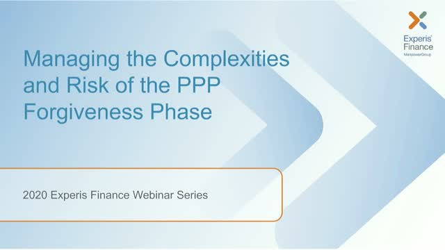 Managing the Complexities and Risk of the PPP Forgiveness Program