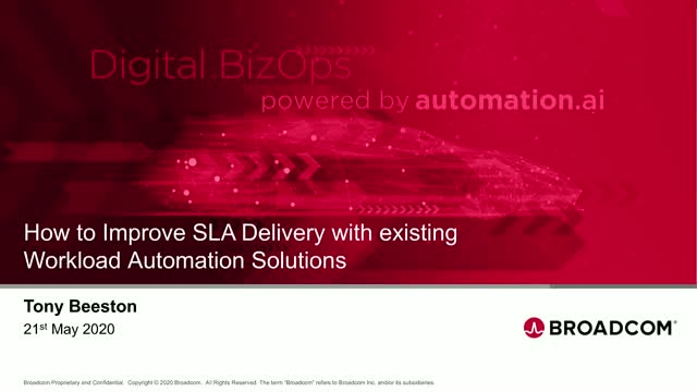 Improve SLA delivery through existing Workload Automation solutions