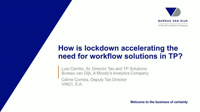 How is lockdown accelerating the need for workflow solutions in TP?