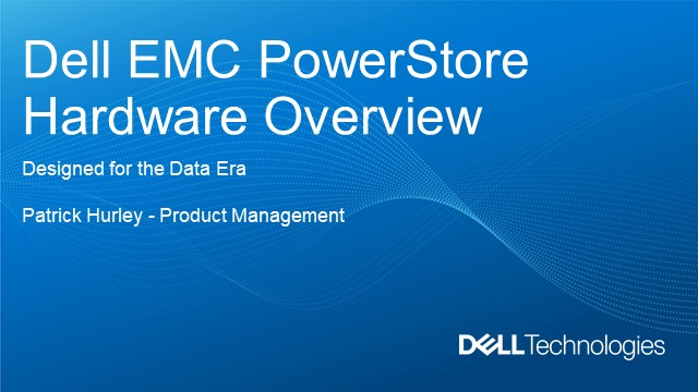 Dell EMC PowerStore: Hardware Overview