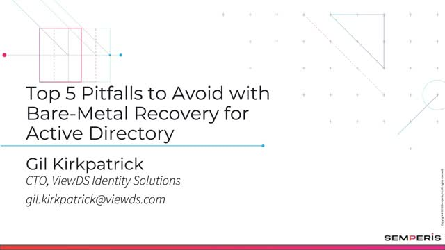 Top 5 Pitfalls to Avoid with Bare-Metal Recovery for Active Directory