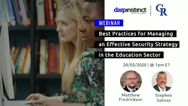 Best Practices to Manage an Effective Security Strategy in the Education Sector
