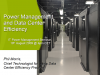 Power Management and Data Center Efficiency