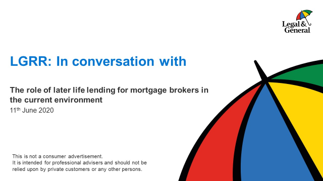 The role of later life lending for mortgage brokers in the current environment