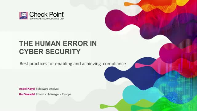 How to Overcome the Human Error in Cyber Security?