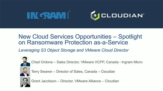New Cloud Services Opportunities with S3 Object Storage & VMware Cloud Director
