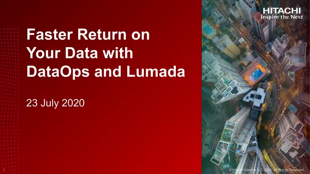 Get Faster Return on Data with DataOps and Lumada