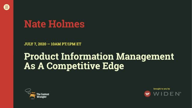 Product Information Management as a Competitive Edge