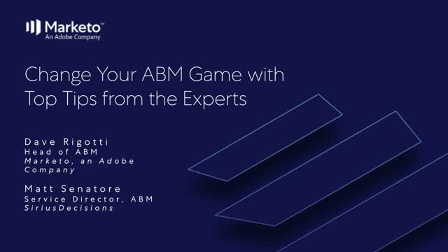 Change Your ABM Game with Top Tips from the Experts