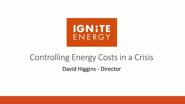 Controlling Energy Costs During a Crisis