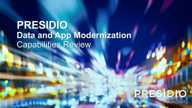 App and Data Transformation LIVE Webcast with Presidio