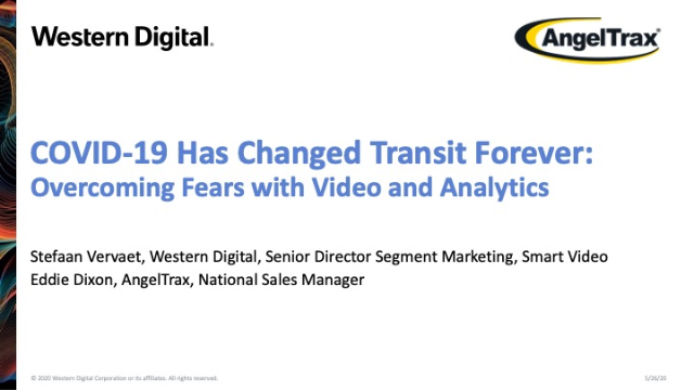 COVID-19 Has Changed Transit Forever: Overcoming Fears With Video & Analytics