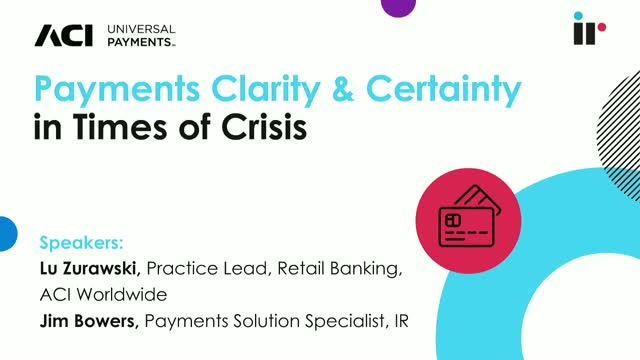 Payments Clarity and Certainty in Time of Crisis
