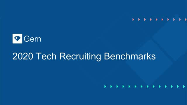 2020 Tech Recruiting Benchmarks