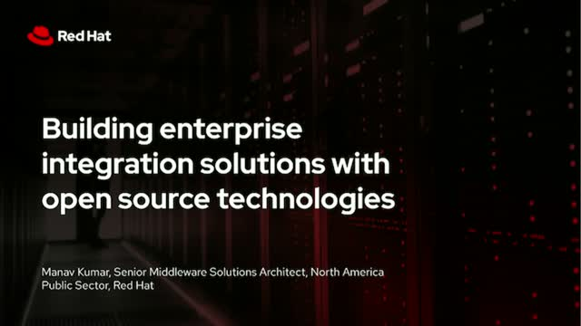 Building enterprise integration solutions with open source technologies