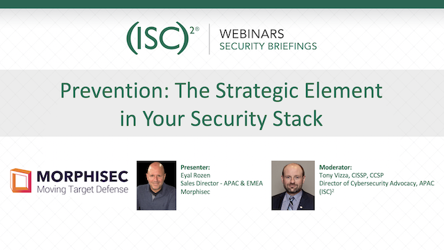 Prevention: The Strategic Element in Your Security Stack