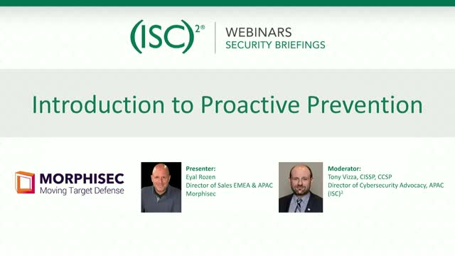 Introduction to Proactive Prevention