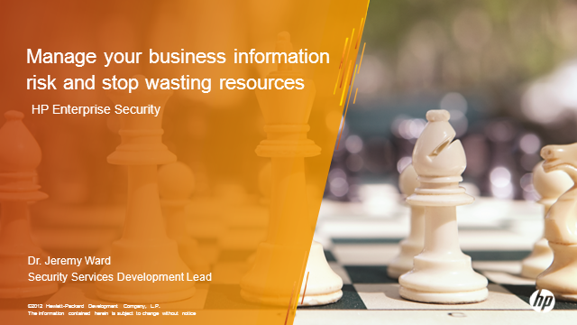 Manage your business information risk and stop wasting resources