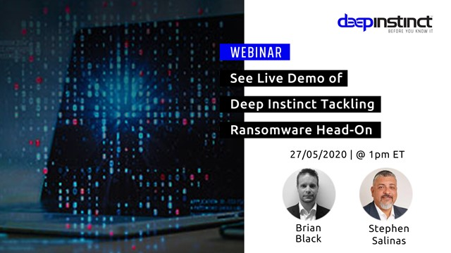 See Live Demo of Deep Instinct Tackling Ransomware Head-On