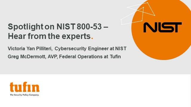 Webinar: Ask the Experts: The scope and significance of NIST 800-53