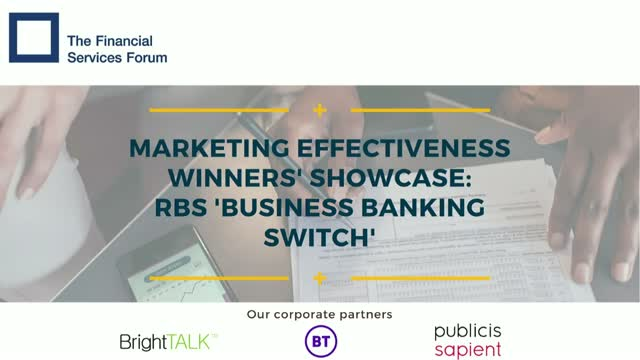 Marketing Effectiveness Showcase - RBS