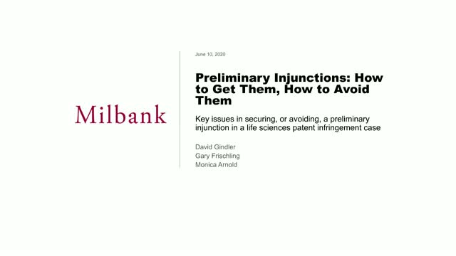 Preliminary Injunctions: How to Get Them, How to Avoid Them