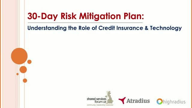 30-Day Risk Mitigation Plan: Understanding the Role of Credit Insurance & AI