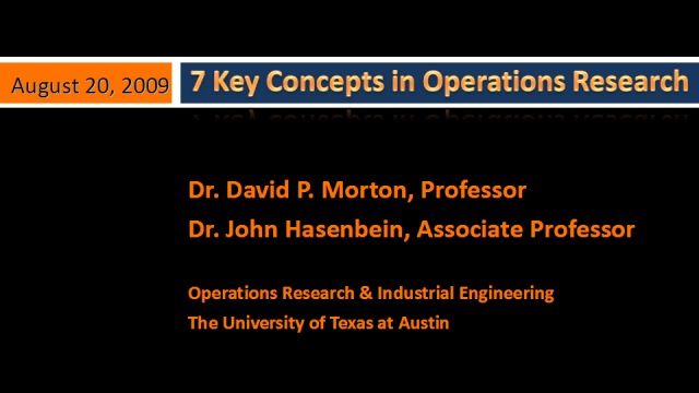 Scientific Disciplines enabling Analytics & Optimization