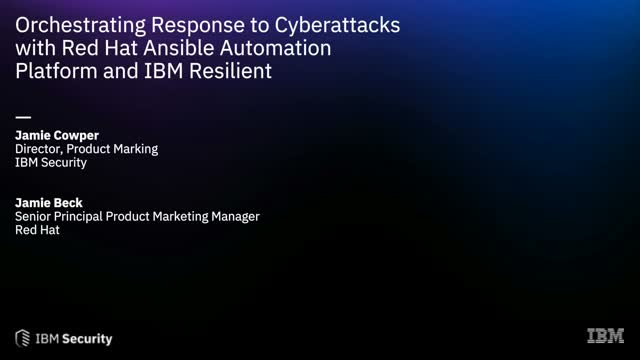 Orchestrating Response to Cyberattacks