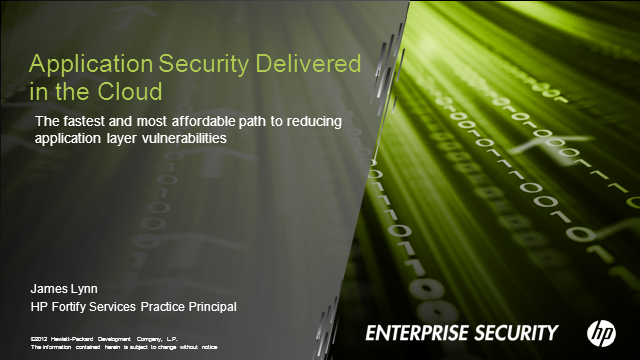 Application Security Delivered in the Cloud