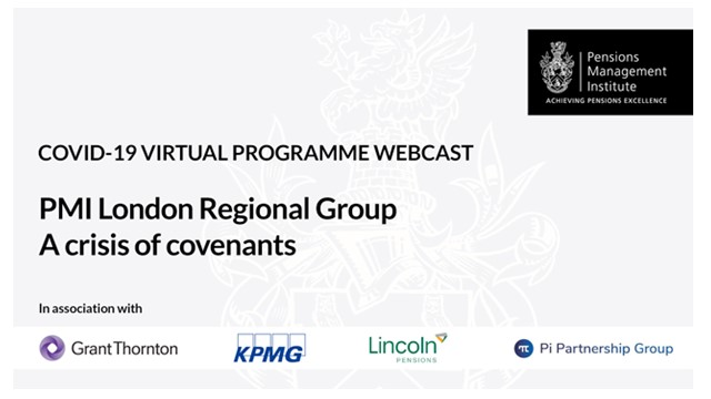 "PMI London Regional Group webinar - A ""crisis of covenants"""