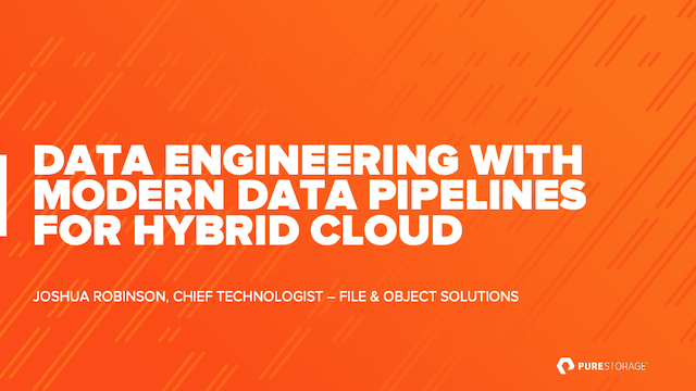 Data Engineering with Modern Data Pipelines for Hybrid Cloud