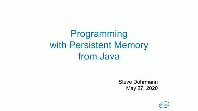 Java Programming with Persistent Memory