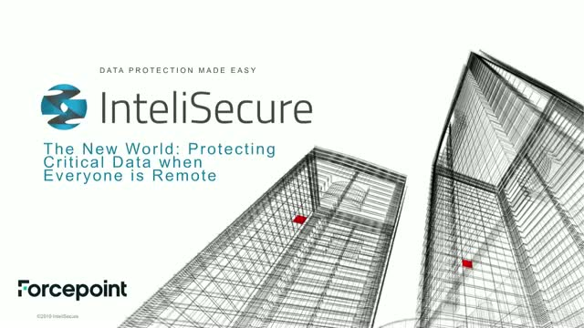 The New World: Protecting Critical Data when Everyone is Remote