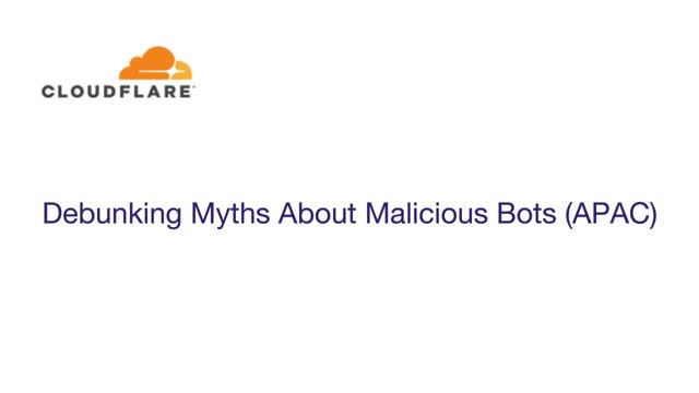 Debunking Myths About Malicious Bots