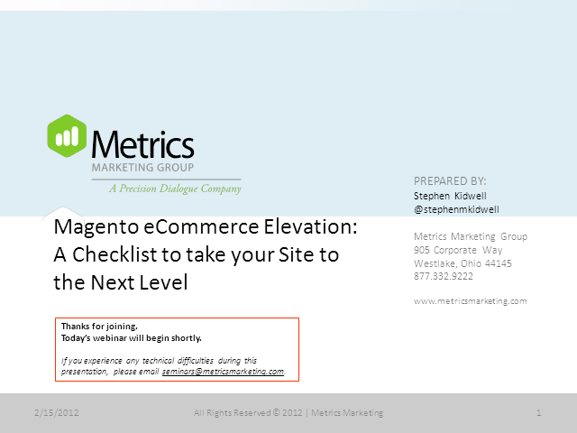Magento eCommerce Elevation: A Checklist to Take Your Site to the Next Level