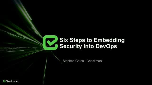 Six Steps to Embedding Security into DevOps