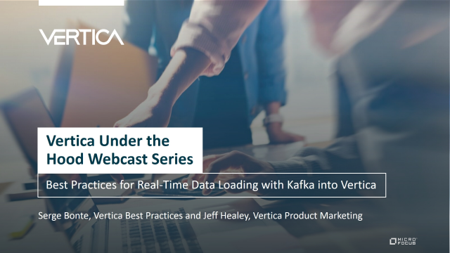 Best Practices for Real-Time Data Loading with Kafka into Vertica