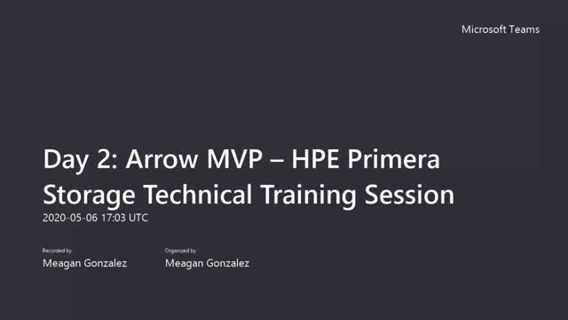 Arrow's HPE Primera Storage Technical  (Data Protection & Data Mobility)