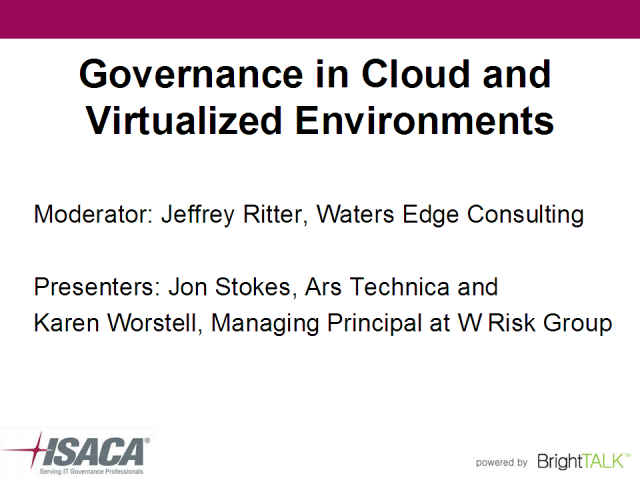 Governance in Cloud and Virtualized Environments