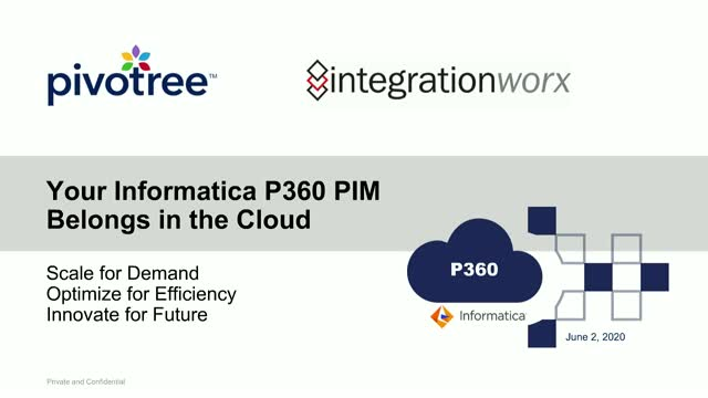Your Informatica P360 Belongs in the Cloud: Scale, Optimize, Innovate