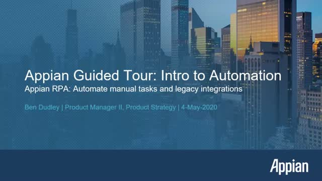 Appian RPA: Automate Manual Tasks and Legacy Integrations