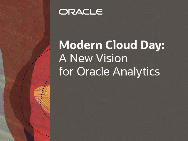 A New Vision for Oracle Analytics