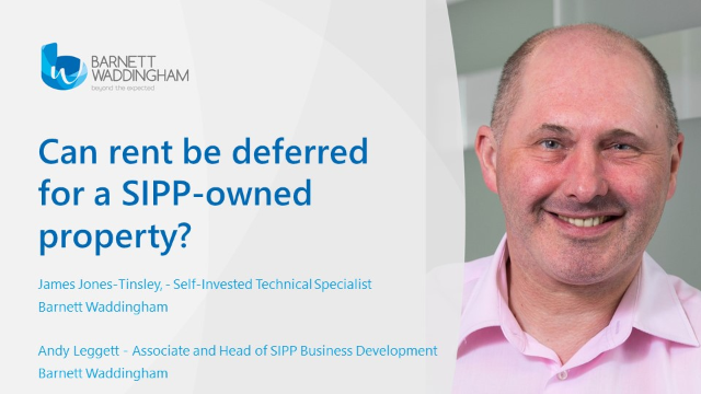 Can rent be deferred for a SIPP-owned property?