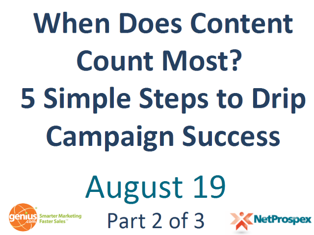 When Does Content Count Most? 5 Steps to Drip Campaign Success