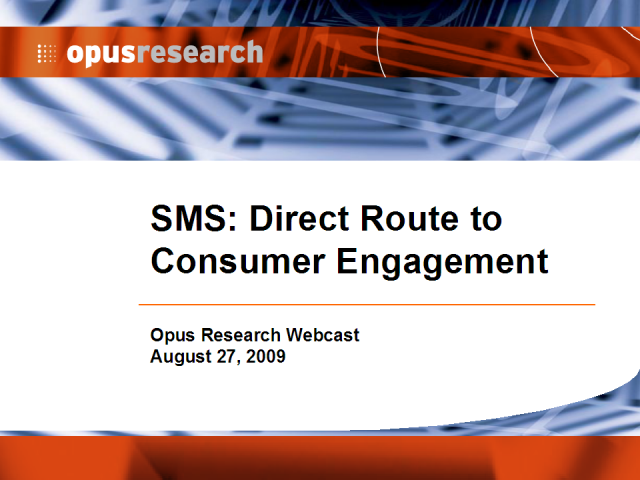SMS Marketing: Direct Route to Consumer Engagement